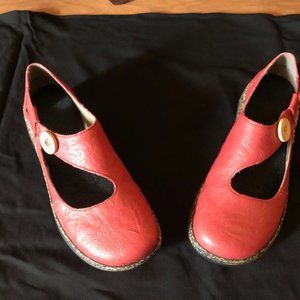 Rieker Red Leather Shoes, size 38